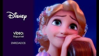 Thumb Disney Enredados presenta a Rapunzel, Pascal el camaleón y Flynn
