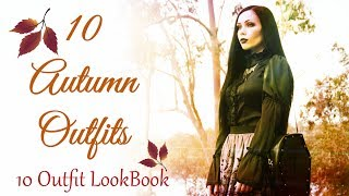 10 AUTUMN OUTFITS || 10 Goth Outfits Look Book - ReeRee Phillips
