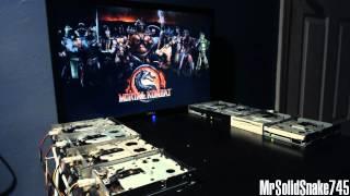 Mortal Kombat Theme on eight floppy drives