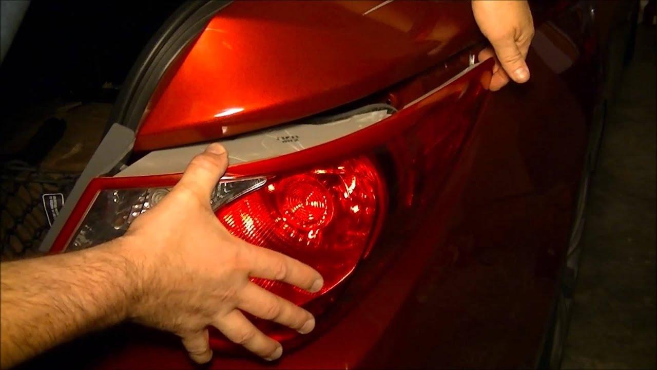 Hyundai Sonata 2011 Rear Tail Light Assembly Removal And