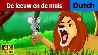 De leeuw en de muis | Lion and the Mouse in Dutch | 4K UHD | Dutch Fairy Tales