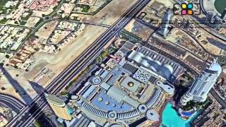 Burj Khalifa Pinnacle Panorama - 360 degree image