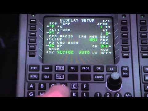 Familiarization of the Hawker 4000 MCDU