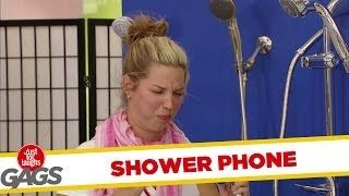 Shower Phone Sprays Their Face!