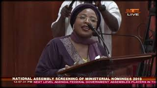 Screening of Ministerial Nominees 2019 - Rahmatu Tijjani (Kogi State)