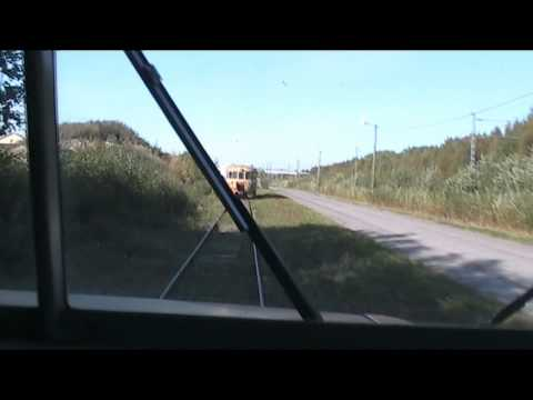 04092011 1510 cab view Porha´s Museum of the rail car Rau-Rto20 drive Nokela, Oulu