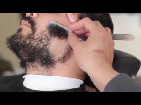 straight razor shave | Beard shaved off