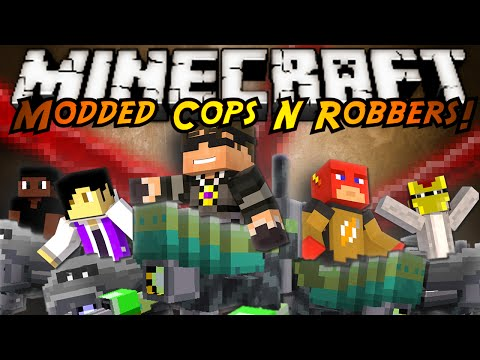 Minecraft Modded Cops N Robbers : MECH SUIT MOD!
