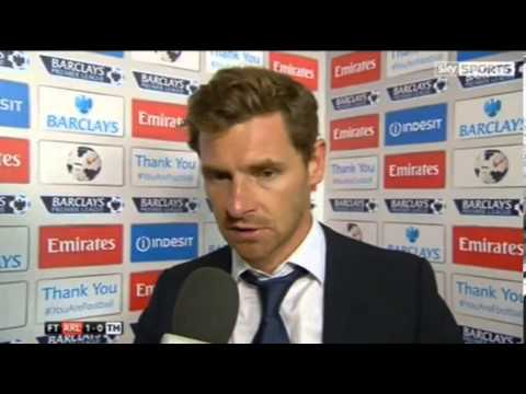 Arsenal 1-0 Tottenham Hotspur - Andre Villas-Boas Interview - 01/09/13
