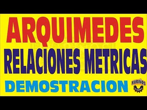 EL TEOREMA DE ARQUIMEDES EN LOS CUADRILATEROS DEMOSTRACION DE RELACIONES METRICAS