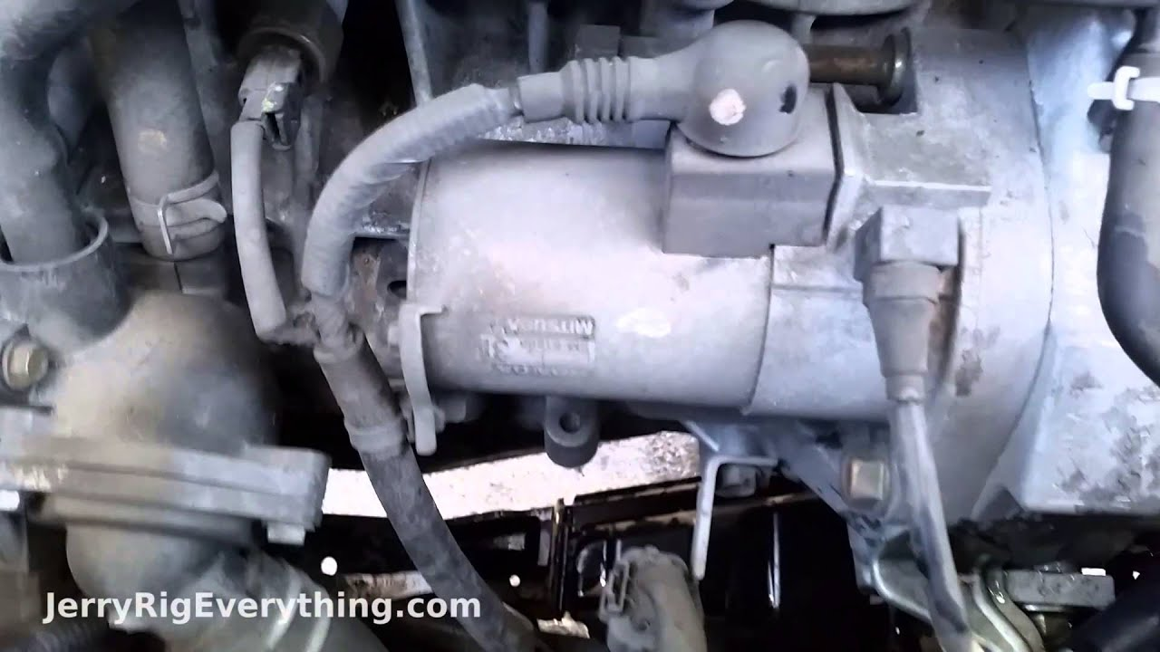 02 06 Honda Cr V Starter Motor Removal Youtube