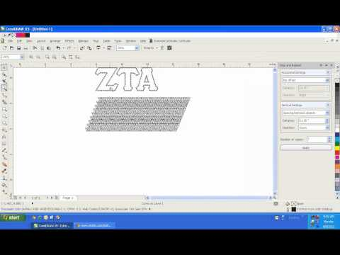 Creating Custom Rhinestone Templates in CorelDRAW: Filled Text