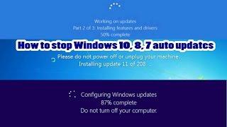 How to stop Windows 10, 8, 7 auto updates |Bangla| Creative Tutorials