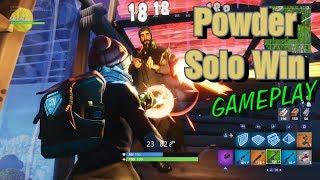 Fortnite Powder Solo Win Gameplay