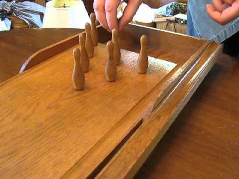 Vintage Tabletop Bowling Game Youtube