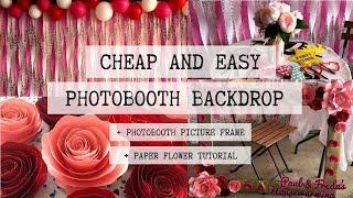 DIY PHOTOBOOTH BACKDROP | CHEAP AND EASY PARTY DECOR