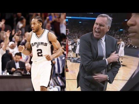 Kawhi Leonard Rejects James Harden In Clutch Rockets Vs Spurs