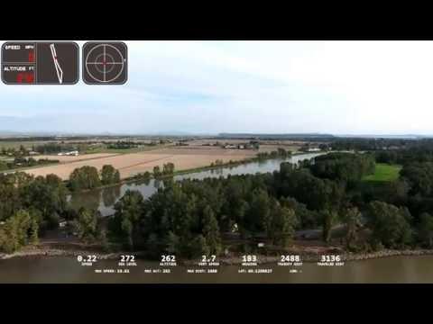 DJI Phantom 4 range 7216 feet with GPS tracking at Fraser River