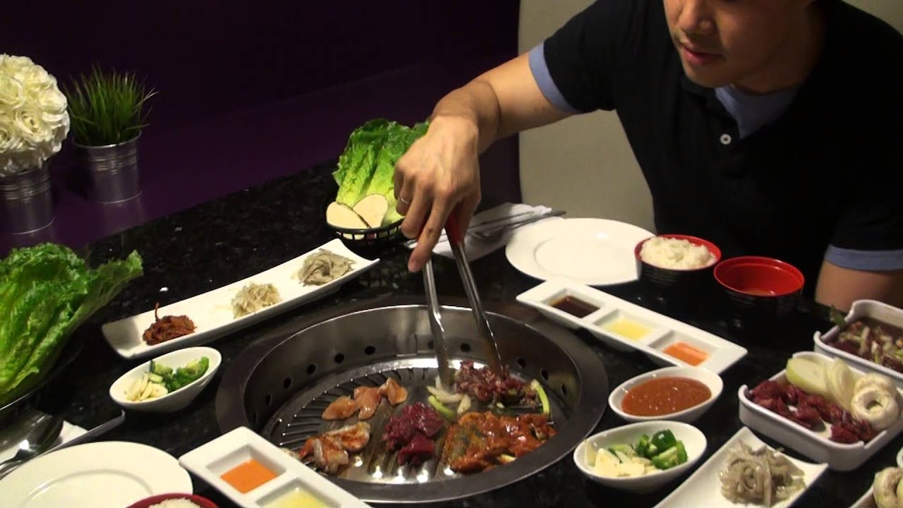 How to eat korean bbq gangnam style bbq restaurant - How to build a korean bbq table ...