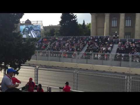 Formula One quail in Baku, Azerbaijan