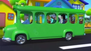 Rodas no ônibus | Rimas para bebês | Canção infantil | Preschool Nursery Rhymes | Wheels on the Bus