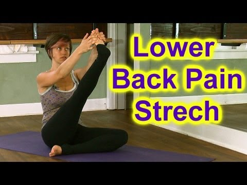 How To Stretch: Butt &amp; Hips for Low Back Pain &amp; Sciatica | Austin Yoga Instructor Jen Hilman