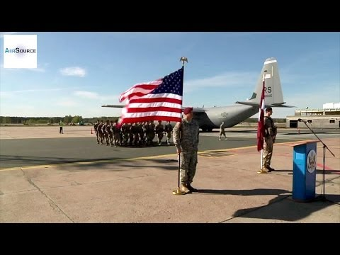 U.S. Soldiers Arrive in Riga, Latvia