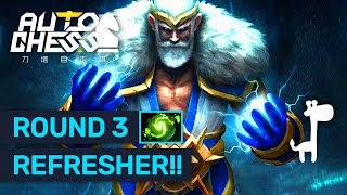 ROUND 3 REFRESHER! Dota Auto Chess LEGENDARY Game of High Rollers!