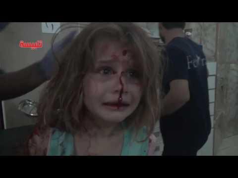 Dramático Video de otra nena víctima de la guerra en Siria: ¡Quiero a mi papá!