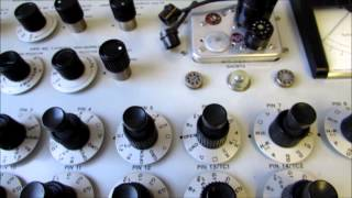 Testing Vacuum Tubes on the RCA WT-100A