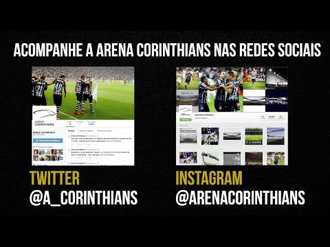 Arena Corinthians nas redes sociais