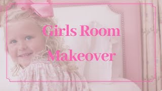 Girls Room Makeover: Charming Curtains and Dust Ruffles