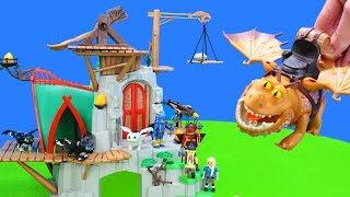 Alle Spielzeug Drachen vom Dragons Kinofilm Drachenzähmen leicht gemacht als Unboxing für Kinder