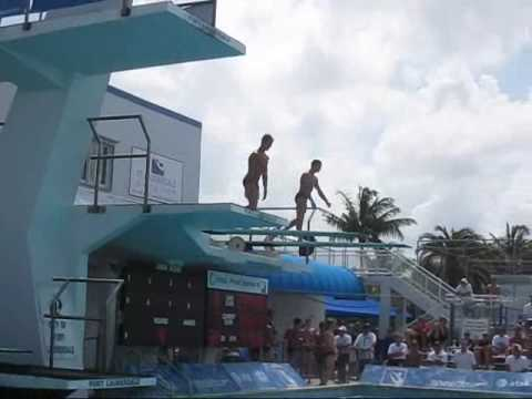 Kristian Ipsen and Troy Dumais diving synchro for the first time, ...