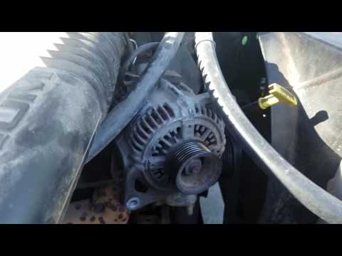 changing car alternator in 97 dodge ram truck