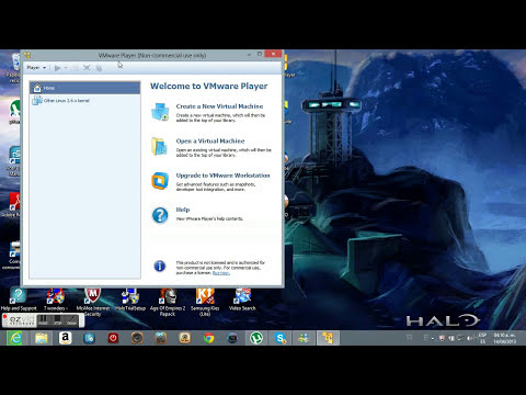 Como descargas VMware player en windows 8 para hacer una maquina virtual