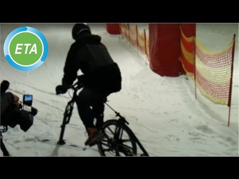 B.O.N.D bike on snow