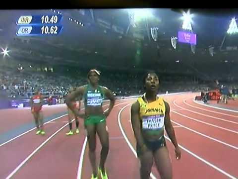London olympic women's 100m sprint final