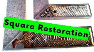 2x Vintage Try Square - BLOSTA - Tool Restoration (Tri Square) diYotam Ch