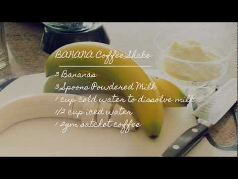 Banana Coffee Shake Recipe Energizing Drink 1Q Food Platter