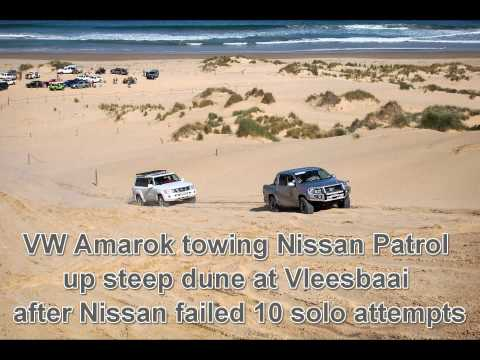 VW Amarok Rescue Nissan Patrol at Vleesbaai