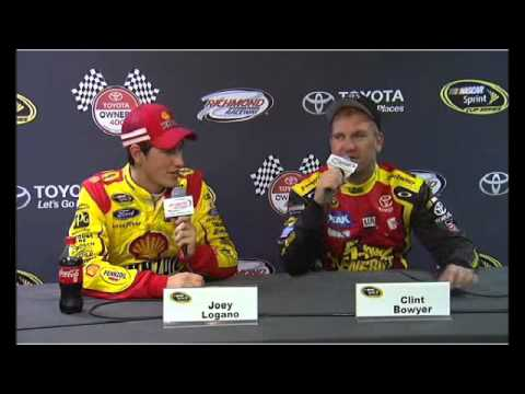 Joey Logano and Clint Bowyer NASCAR Post Race Interview