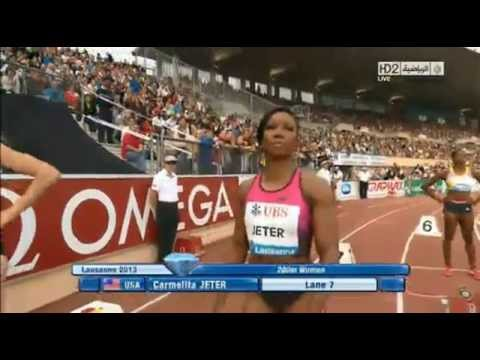 July 4, 2013 IAAF Diamond League Lausanne (Switzerland) women's 200 meter dash - Ukraine's Mariya Ryemyen wins with her best time this season beating USA's L...