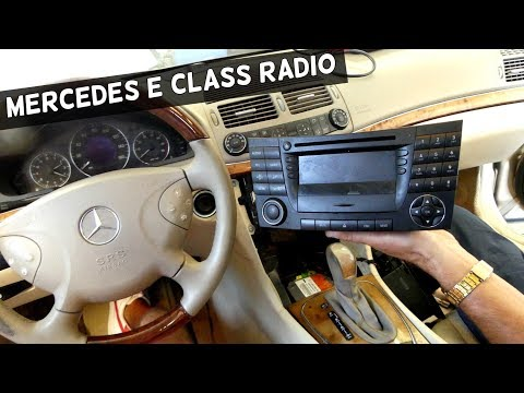 HOW TO REMOVE RADIO ON MERCEDES W211 RADIO REPLACEMENT