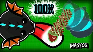 BLACK DRAGON FEAST! Mope.io Best Animal Combo as a Colossal!