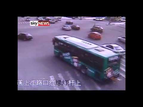 China: Boy Saved After Riding Into Rush Hour Traffic In Wenzhou