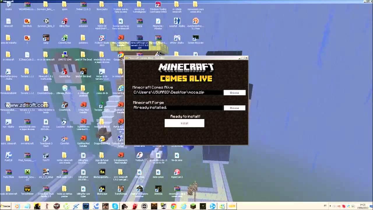 Como baixar e instalar o mod comes alive minecraft 1 5 2 youtube
