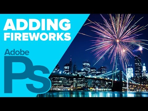 How to Add Fireworks in Photoshop   IceflowStudios