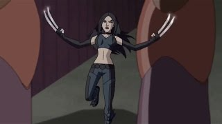X-23/Laura Kinney scenes (from the 2009 cartoon WOLVERINE AND THE X-MEN)