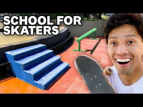 This School Is A SKATEPARK!